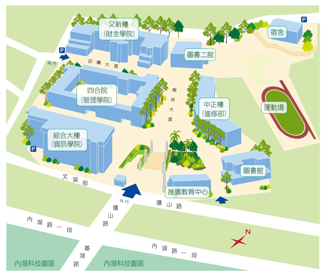 德明财经科技大学 校园平面图